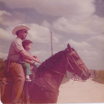 Horseback riding with my Dad. One of my favorite activities was being at the Ranch with my Dad.